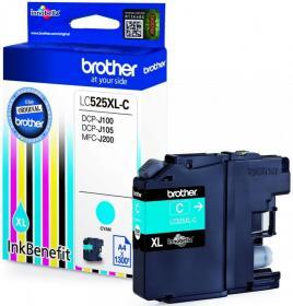 Tusz Brother (LC525XLC), 1300 stron, cyan (błękitny)