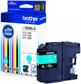Tusz Brother LC525XLC, 1300 stron, cyan (błękitny)