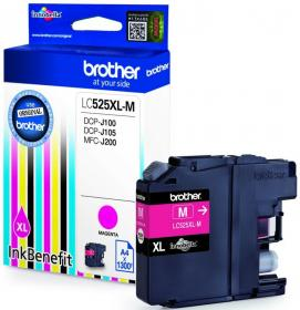 Tusz Brother LC525XLM, 1300 stron, magenta (purpurowy)
