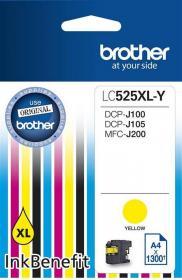 Tusz Brother LC525XLY, 1300 stron, yellow (żółty)