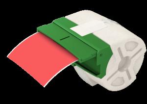 Kaseta z plastikową samoprzylepną taśmą do drukowania etykiet Leitz Icon, 88 mm, czerwony