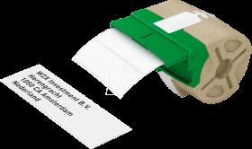 Kaseta z papierowymi samoprzylepnymi etykietami Leitz Icon, 28x88mm, biały
