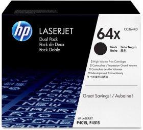 Toner HP 64X (CC364XD), 2x24000 stron, 2 sztuki, black (czarny)