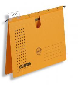Skoroszyt zawieszany Elba Chic Ultimate, A4, 245x318mm, 230g/m2, żółty
