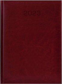 Kalendarz książkowy Udziałowiec 2019, Biznesowy, A4, dzienny, 184 kartki, bordowy