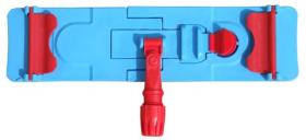 Uchwyt do mopów płaskich z zakładkami Merida, 40x11cm, niebieski