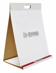 Blok do flipchartów Bi-Office, samoprzylepny, 50x58.5cm, gładki, 20 kart