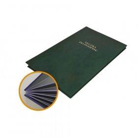 Teczka do podpisu Barbara, A4, 10 kartek, zielony