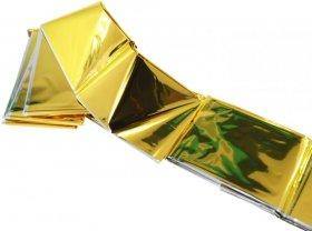 Koc ratunkowy termiczny, 220x160 cm, srebrno-złoty