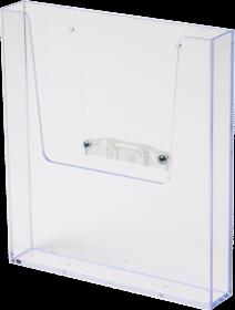 Półka akrylowa 2x3, z nasadką do stojaków Multiside, A4, przezroczysty