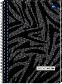 Kołonotatnik Interdruk, A5, w kratkę, 100 kartek, mix wzorów