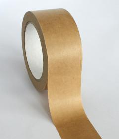 Taśma pakowa, papierowa, 50mmx50m, samoprzylepna, brązowy