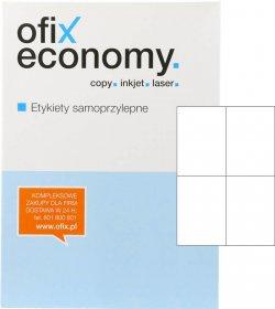 Etykiety uniwersalne Ofix Economy, 105x148mm, 100 arkuszy, biały