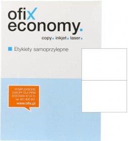 Etykiety uniwersalne Ofix Economy, 210x148mm, 100 arkuszy, biały