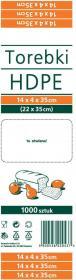 Torebki spożywcze Sarantis, 14x4x35cm, 1000 sztuk, biały