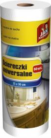 Ściereczki na rolce Jan Niezbędny, 25x30cm, 50 sztuk, biały