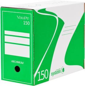 Pudło archiwizacyjne VauPe, do luźnych dokumentów, 150mm, zielony