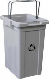 Kosz do segregacji odpadów Merida, 33l, szary