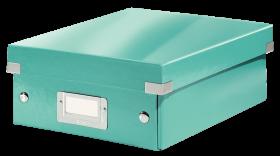 Pudełko z przegródkami Leitz Click&Store Wow, 220x100x282mm, błękitny