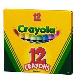 Kredki świecowe Crayola, 12 kolorów