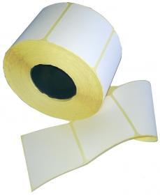 Etykiety termiczne, 58x43 mm, 1000 etykiet, na rolce, biały