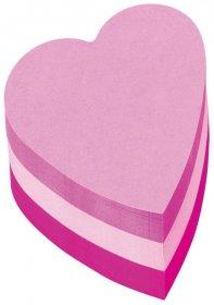 Notes samoprzylepny Post-it serce, 225 karteczek, mix kolorów neonowych