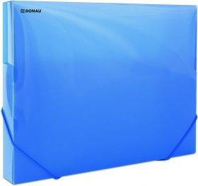 Teczka plastikowa z gumką poszerzana Donau, A4, 700µm, 300 kartek, niebieski