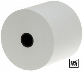 Rolka termiczna Emerson, 80mm x 60m, 50+/- 6g/m2, BPA Free, biały