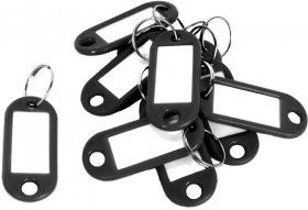 Identyfikator do kluczy D.Rect, plastik, 10 sztuk, czarny