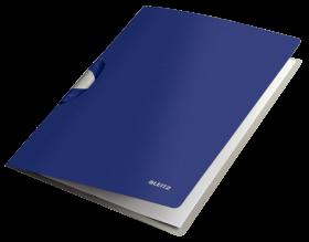 Skoroszyt  plastikowy z klipsem Leitz Style ColorClip Professional, A4, do 40 kartek, niebieski