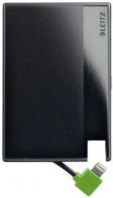Powerbank Leitz Complete 1350, w kształcie karty kredytowej, ze złączem Lightning