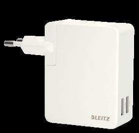 Ładowarka sieciowa Leitz Complete z 2 portami USB 24-watowa, biały