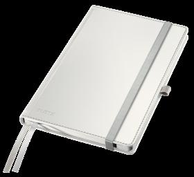 Notatnik w kratkę Leitz Style, A5, twarda oprawa, 80 kartek, arktyczna biel