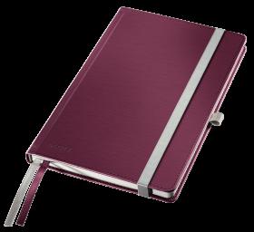 Notatnik w kratkę Leitz Style, A5, twarda oprawa, 80 kartek, rubinowa czerwień