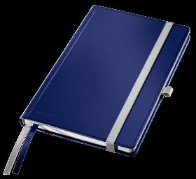 Notatnik w kratkę Leitz Style, A5, twarda oprawa, 80 kartek, tytanowy błękit