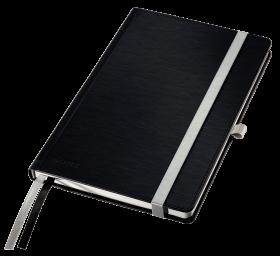 Notatnik w kratkę Leitz Style, A5, twarda oprawa, 80 kartek, satynowa czerń