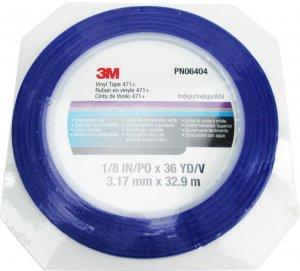 Taśma maskująca cienkoliniowa 3M 471+, 3mm x 33m, niebieski