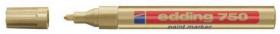 Marker olejowy Edding 750, okrągła, 4mm, złoty