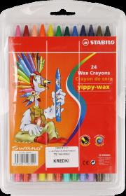 Kredki świecowe Stabilo, 24 kolory