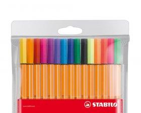 Cienkopis Stabilo, Point 88, 0.4mm, 15 sztuk w etui, mix kolorów