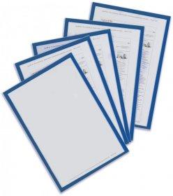 Ramka magnetyczna Vittoria, A4, 5 sztuk, niebieska
