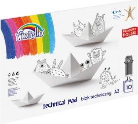 Blok techniczny Grand, A3, 10 kartek, biały