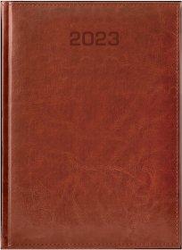 Kalendarz książkowy Udziałowiec 2020, Biznesowy, A4, dzienny, 184 kartki, brązowy