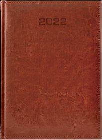 Kalendarz książkowy Udziałowiec 2019, Biznesowy, A4, dzienny, 184 kartki, brązowy
