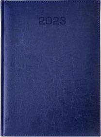 Kalendarz książkowy Udziałowiec 2019, Biznesowy, A4, dzienny, 184 kartki, granatowy