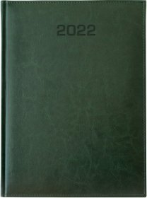 Kalendarz książkowy Udziałowiec 2018, Biznesowy, A4, dzienny, 184 kartki, zielony