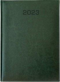 Kalendarz książkowy Udziałowiec 2019, Biznesowy, A4, dzienny, 184 kartki, zielony