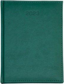 Kalendarz książkowy Udziałowiec 2018, Nebraska, A4, tygodniowy, 160 kartek, zielony