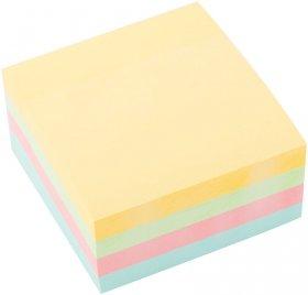 Notes samoprzylepny D.Rect, 75x75mm, 400 karteczek, mix pastelowy