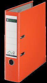 Segregator Leitz 180°, A4 , szerokość grzbietu 80mm, do 600 kartek, pomarańczowy